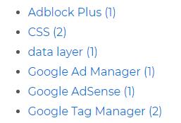 List of WordPress tags