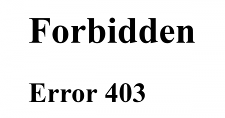 Forbidden Error 403