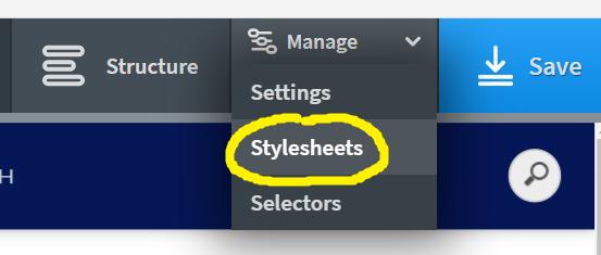Manage Stylesheets Oxygen