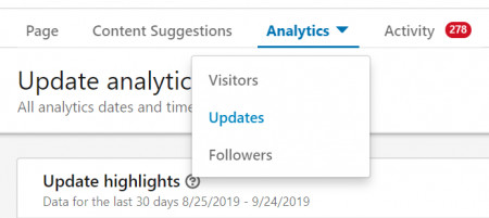 LinkedIn page analytics