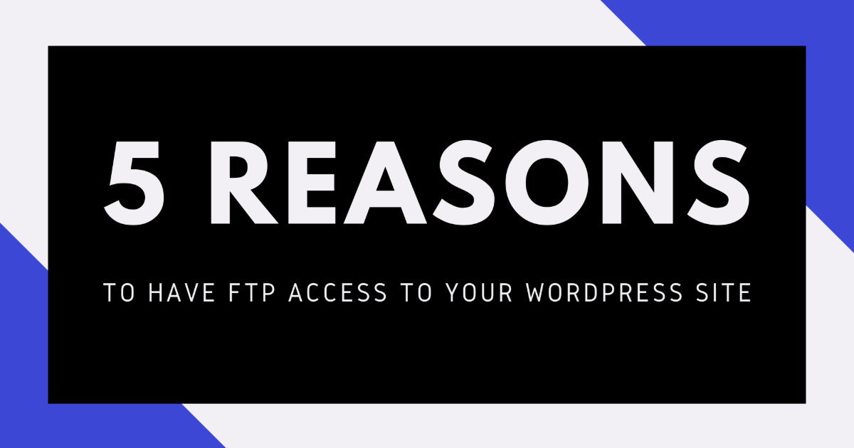 FTP access to WordPress site