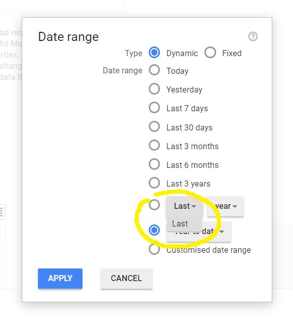 Dynamic date range