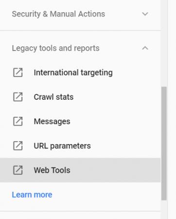 Web Tools link