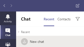 New chat in Teams