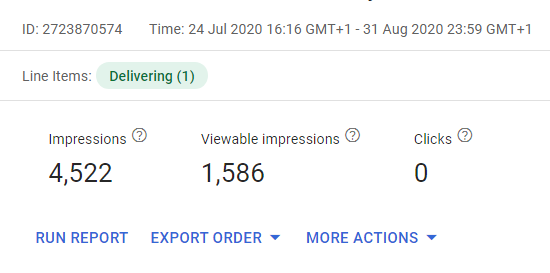 Viewable impressions in GAM