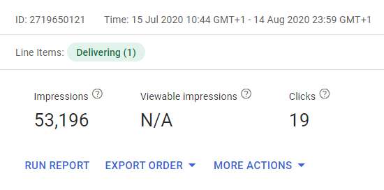 Viewable impressions N/A