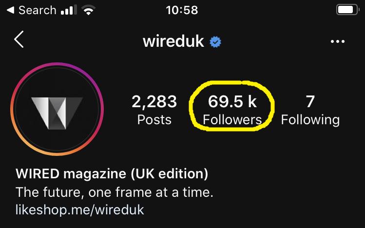 Instagram app followers