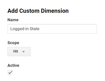 Add custom dimension