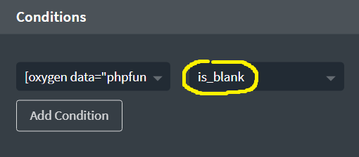 Condition is_blank