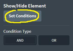 Set Conditions Oxygen